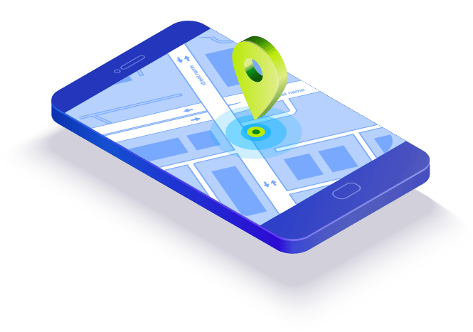 Eine moderne Navigations-App auf einem Smartphone